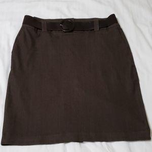 Cato Women Brown Denim Skirt